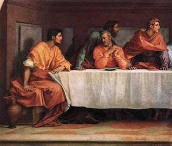 The Last Supper [detail] by Andrea del Sarto